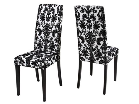 Black White Dining Chairs Damask Dining Chair Sebastian White Black Floral Dining Chair 1347354293 Inspiration And Design