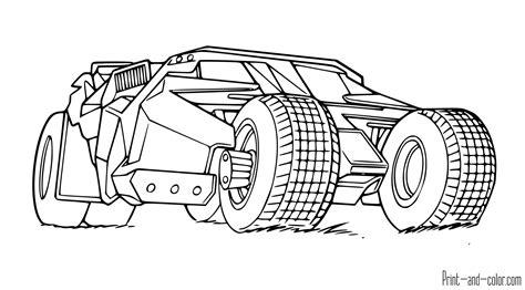 Batman Cars Coloring Pages | batman free printable coloring pages 12 coloring pages