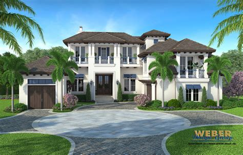 West Indies Home Plan Admiral Model Weber Design Group West Indies Style House Plans