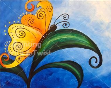 paint with a twist greenville tx 1000 ideas about butterfly painting on