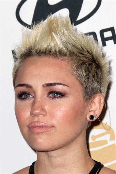 platinum blonde mohawk miley cyrus straight platinum blonde mohawk hairstyle
