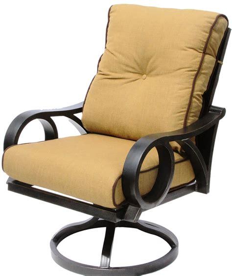 Furniture: Cast Aluminum Tortuga Outdoor Patio Swivel