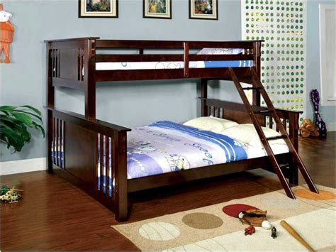 full size bunk bed with futon home decor and furniture