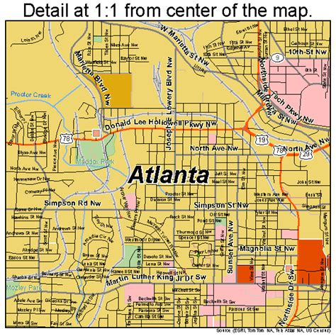 map of atlanta ga atlanta map 1304000