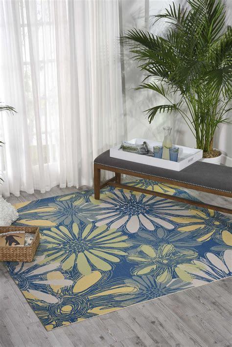 nourison home garden botanical blue area rug walmartcom