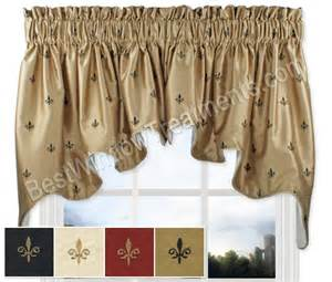 Fleur De Lis Kitchen Curtains by Fleur De Lis Duchess Swag Window Topper
