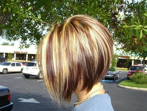brown highlited bob haircuts inverted bob with blonde brown highlights bob haircuts