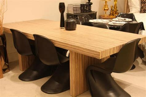 www roomservicestore zebrawood plinth dining table