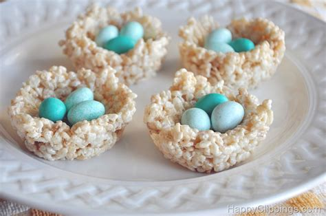 rice krispies bird nest treats