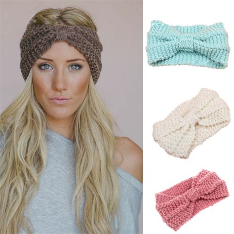 knit winter headband knit headband crochet winter warmer hairband