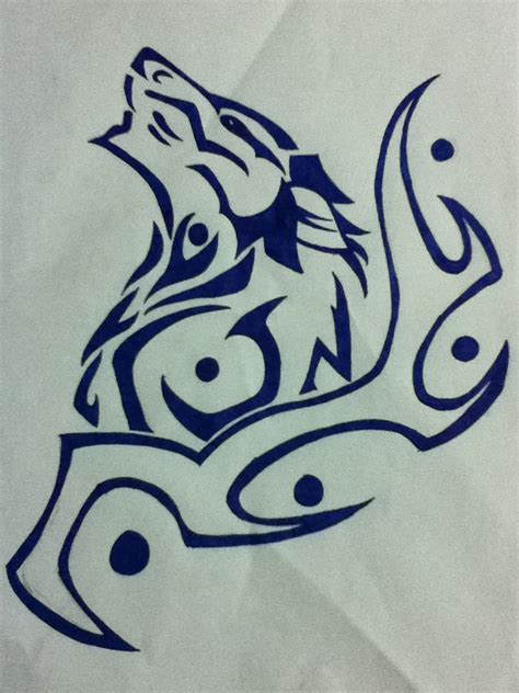 how to get free tattoos tribal wolf drawing at getdrawings free for personal
