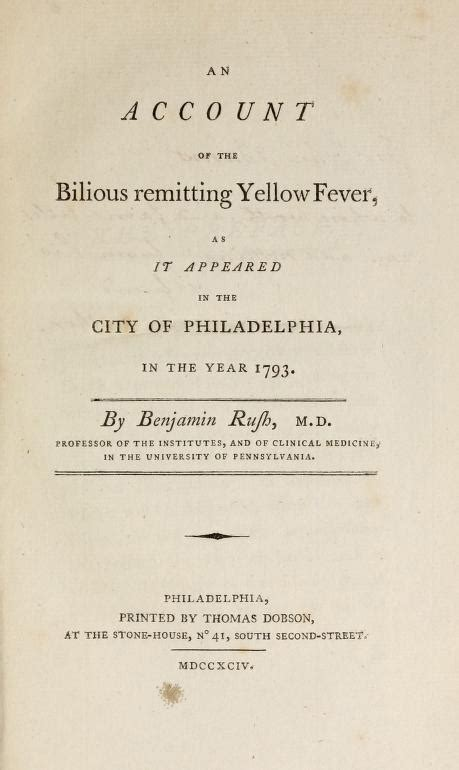 Yellow Fever Epidemic Of 1793 Also Search For Explorepahistory Image