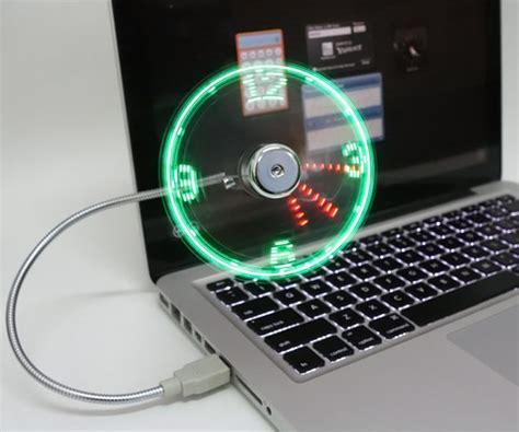 Usb Led Clock Fan usb led fan clock