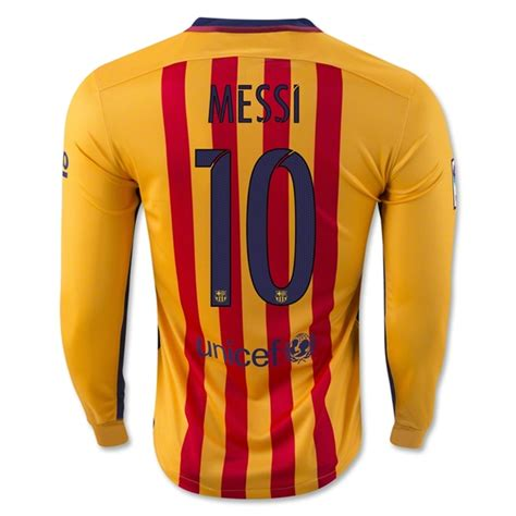 Barcelona Away 1516 For new lionel messi away ls 15 16 barcelona soccer jersey