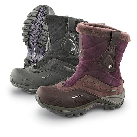 s merrell 174 whiteout waterproof pull on boots