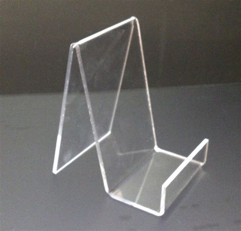 10 x small acrylic book stand perspex retail display stand