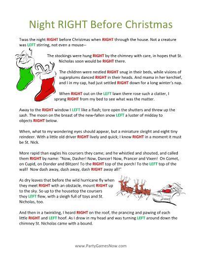printable christmas stories right left christmas stories sanjonmotel
