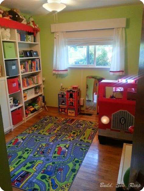 fire truck bedroom ideas fire truck toddler bed hometalk