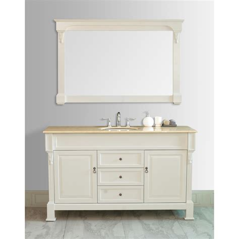 best finish for bathroom cabinets stufurhome 60 quot galaxy single sink vanity in cream finish