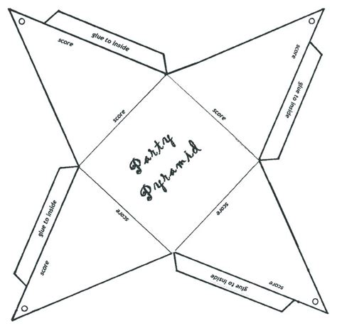 How To Make A Paper Pyramid Template - pin by kathy lynch on paper