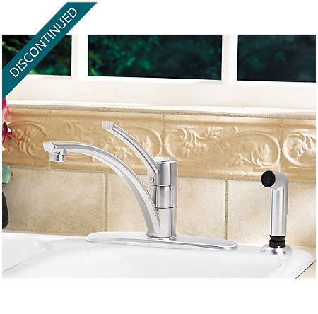 price pfister stainless steel kitchen faucet parisa t34 3nss stainless steel parisa 1 handle kitchen faucet t34 4nss