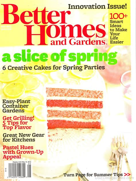 backissues com better homes and gardens may 2012 product details