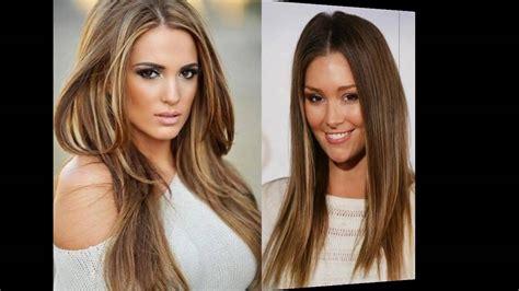 frisuren braune haare mit blonden straehnen youtube