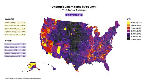 unemployment rates by county map expert market us