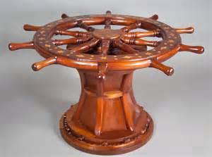 Wheel Coffee Table Nautical Ships Wheel Coffee Table At 1stdibs