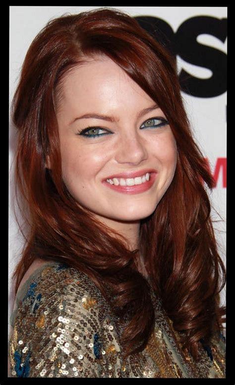 emma stone with black hair emma stone dark red hair hair celebs pinterest her