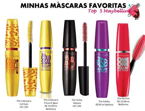 My Top 5 Mascaras by Top 5 R 237 Mel Da Maybelline Alfinetes De Morango