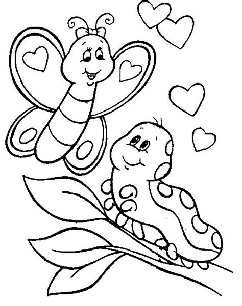 Coloring Pages Of Butterflies And Caterpillars | animal coloring pages pictures caterpillar coloring