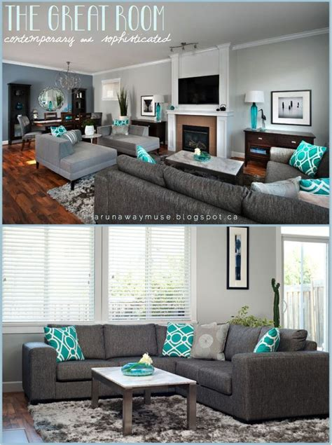 teal accent wall living room accents pinterest image result for black teal gray color scheme new