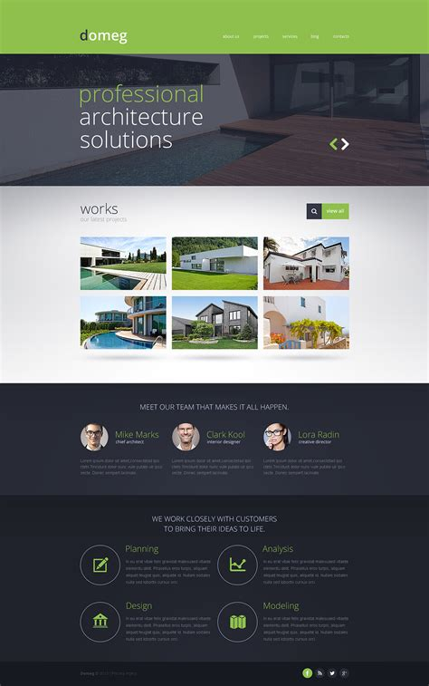 Construction Company Responsive Website Template 46781 Website Construction Template