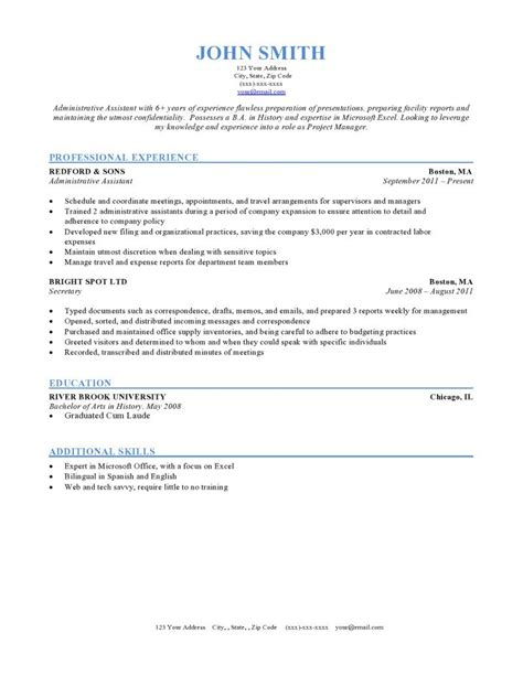 Format Of Resume Template by Expert Preferred Resume Templates Resume Genius