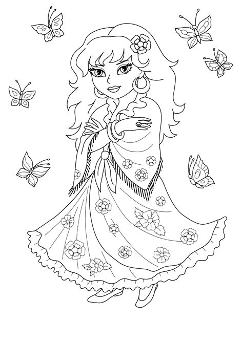 coloring page gypsy cassandra