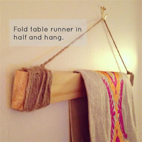 how to hang a banner over a table diy table runner wall banner make little joys