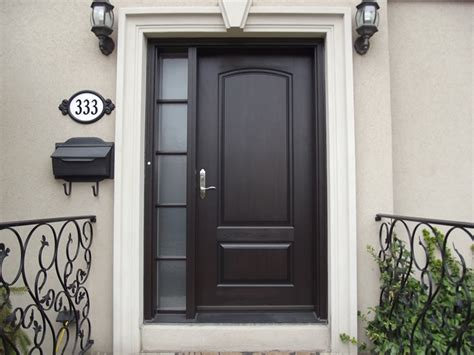Steel Front Door With Sidelights Entry Door With One Simply Designed Sidelight The Wrought Iron Accents Might Only Work