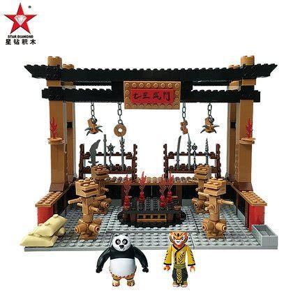 Sembo Block Lego Murah Restoran Mcd kung fu panda 3 lego building block set a kung fu panda
