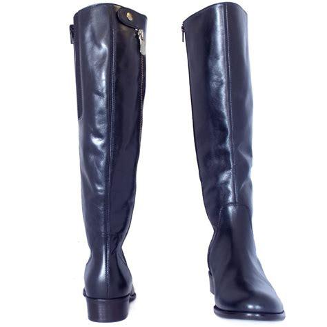 womans knee high boots gabor dawson s modern knee high navy leather boots