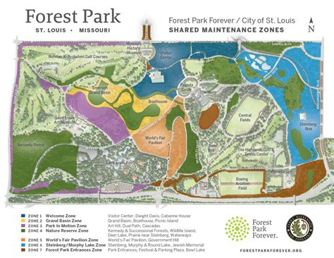 forest park map land management team forest park forever