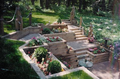Landscape Timber Wall Ideas Replacing Landscape Timber Retaining Wall Landscaping