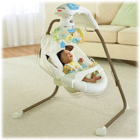 lamb cradle swing object moved