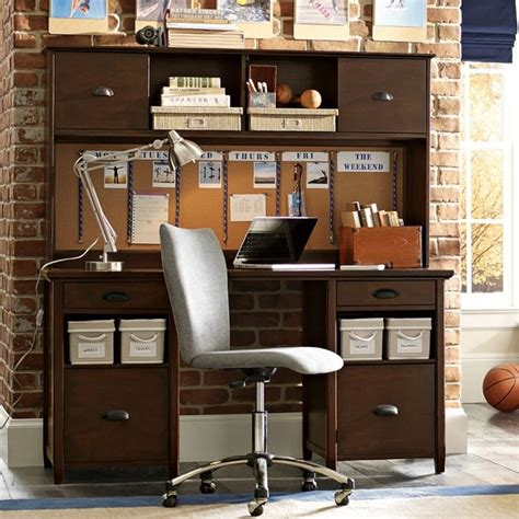 Storage Desk With Hutch Chatham Large Storage Desk Hutch Desks And Hutches Other Metro By Pbteen
