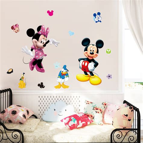 wall decals and sticker ideas for children bedrooms vizmini aliexpress com buy mickey minnie mouse cartoon wall