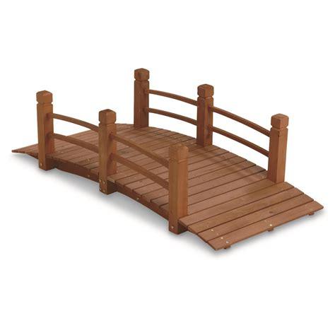 wooden garden bridge castlecreek wooden garden bridge 676466 decorative