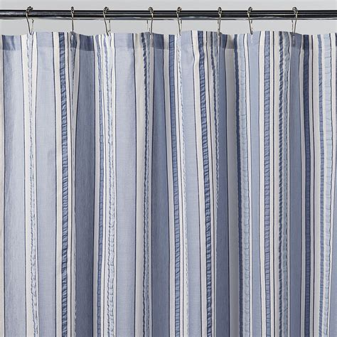 Rugby Stripe Curtains Navy And White Rugby Stripe Shower Curtain Curtain Menzilperde Net