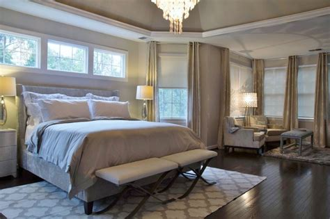 stylish transitional master bedroom before and after master bedroom and bath remodel aldie va transitional