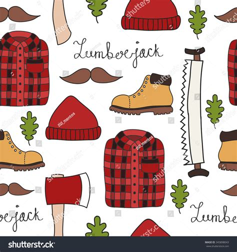 how to do whiskey on doodle fit seamless doodle pattern lumberjack vector illustration