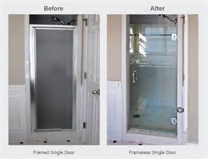 single shower door frameless shower doors why go frameless
